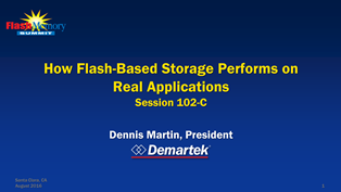 Presentation: How Flash-Based Storage Performs on Real Applications