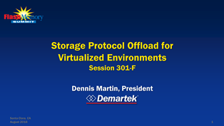 Presentation: Storage Protocol Offload for Virtualized Environments