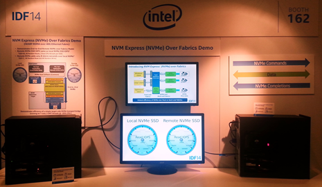 IDF2014 NVMe over Fabrics Booth